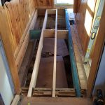 Added joists and LVL to help carry stairs.
