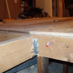Shimming joists to meet existing