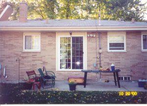 Patio door & deck (1)
